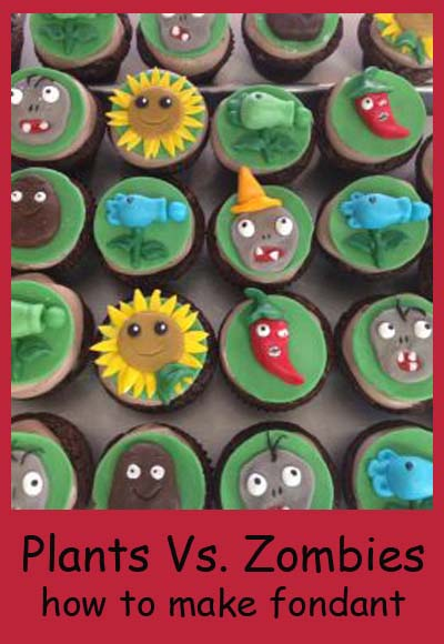 How to make plants vs zombies cupcakes