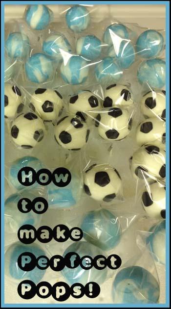 how to make soccer ball cake pops
