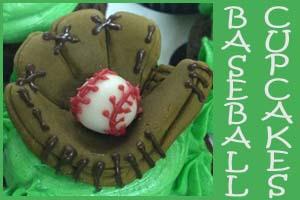 Baseball Mitt Cupcakes- Cupcakes