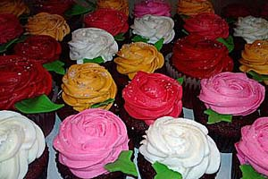 Variety Rose Cupcakes