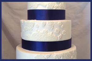 Attaching Ribbon to a Frosted Cake