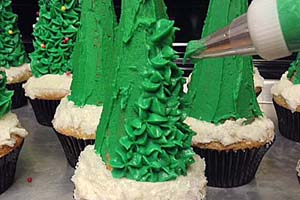 Christmas Trees Cupcakes