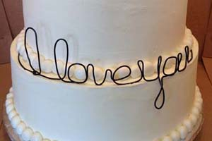 I Love You Wedding Cake