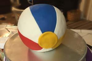 Beach Ball Cake